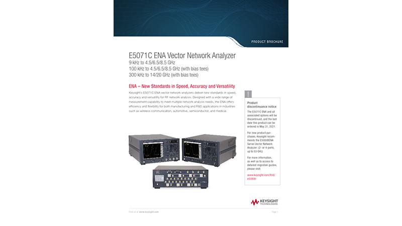 E5071C ENA Vector Network Analyzer