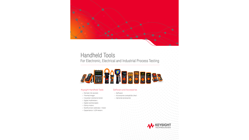 Handheld Tools For Electronic, Electrical and Industrial Process Testing
