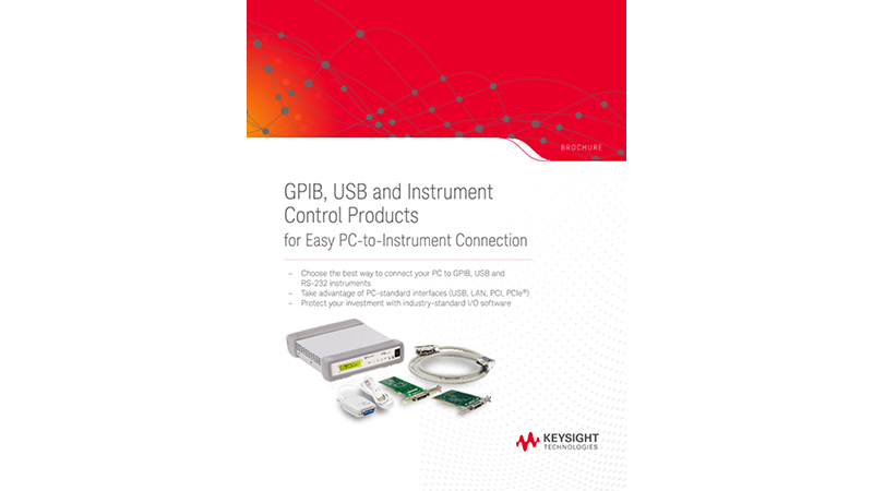GPIB, USB and Instrument Control Products for Easy PC-to-Instrument Connection