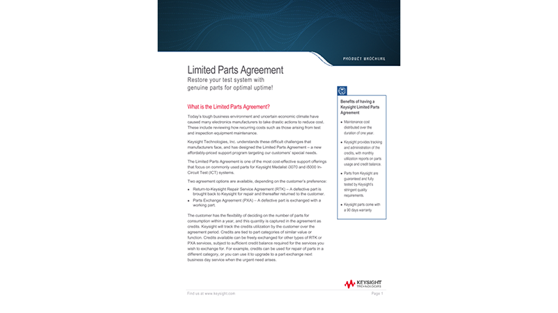 Limited Parts Agreement