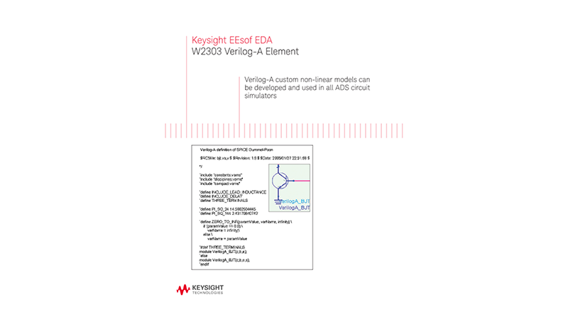 W2303 Verilog-A Elements