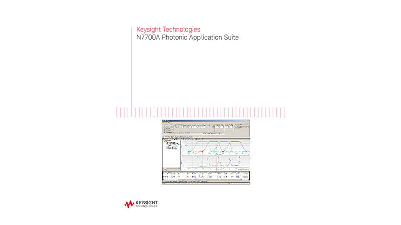 N7700A Photonic Application Suite