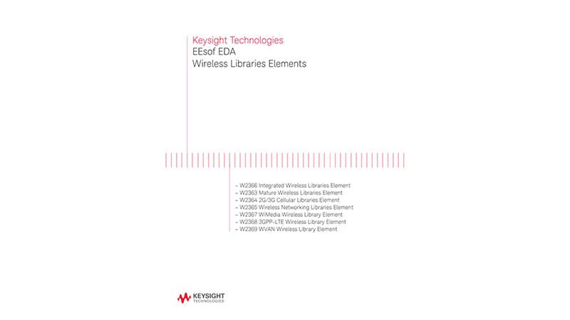 EEsof EDA Wireless Libraries Elements