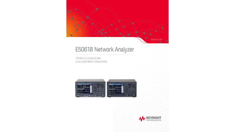 E5061B Network Analyzer, 100 kHz to 1.5 GHz/3 GHz, 5 Hz to 3 GHz