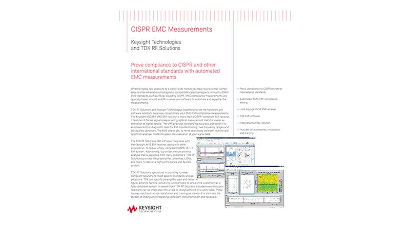 CISPR-Compliant EMC Measurements