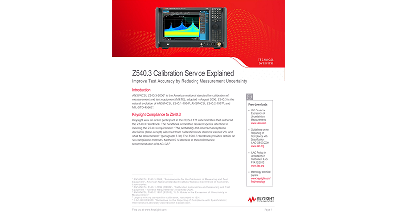 Z540.3 Calibration Service Explained