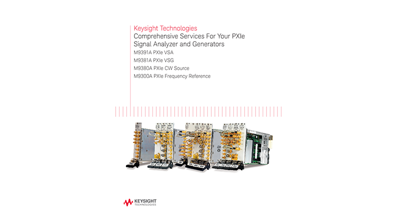 Comprehensive Services For Your PXIe Signal Generators