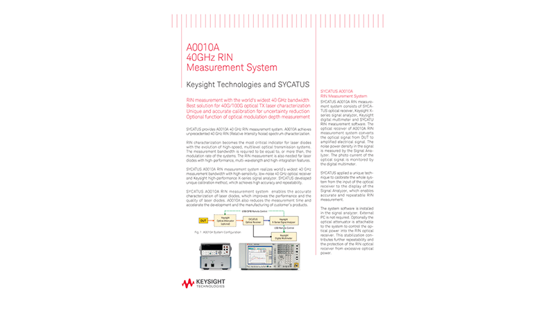 A0010A 40GHz RIN Measurement System