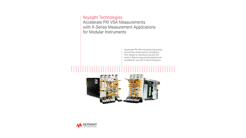 Accelerate PXI VSA Measurements with X-Series Measurement Application for Modular Instruments