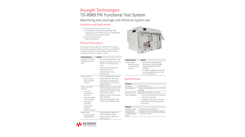 TS-8989 PXI Functional Test System