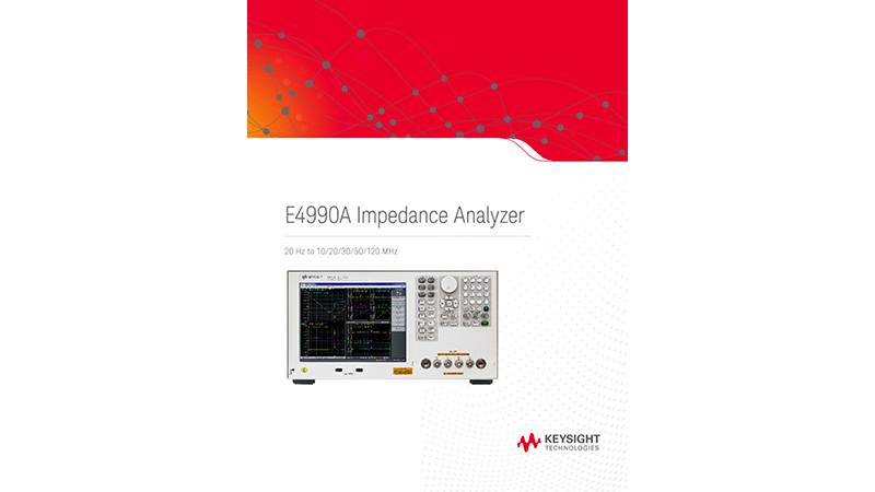 E4990A Impedance Analyzer 20 Hz to 10/20/30/50/120 MHz