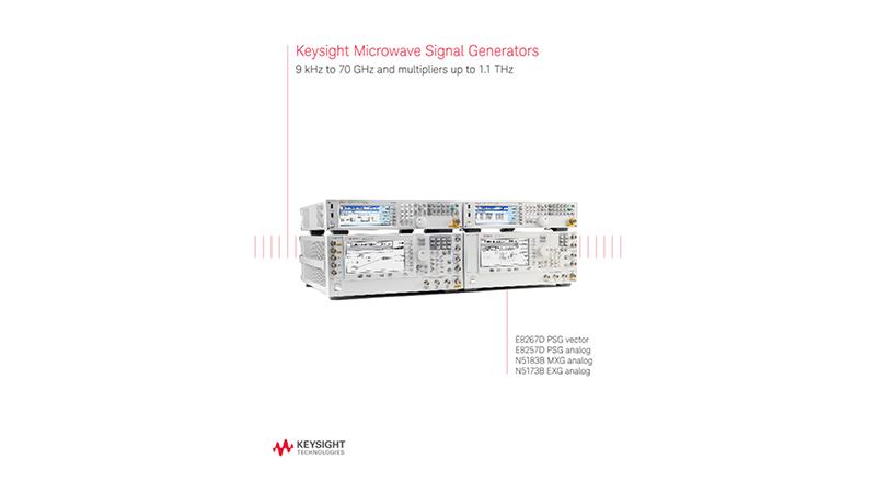 PSG, MXG, & EXG Microwave Signal Generators