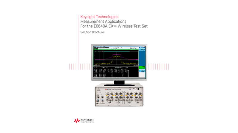 Measurement Applications for the E6640A EXM Wireless Test Set