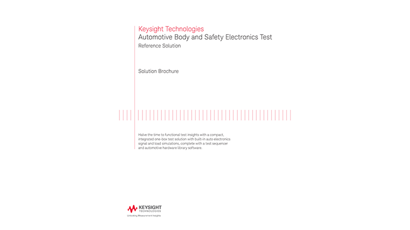 Automotive Body and Safety Electronics Test