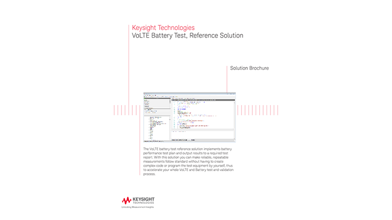 VoLTE Battery Test, Reference Solution