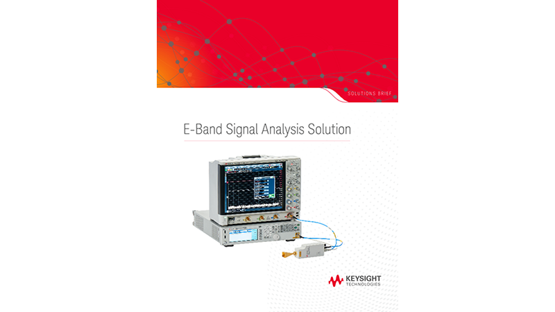 E-Band Signal Analysis Solution