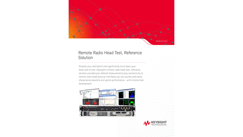 Remote Radio Head Test, Reference Solution  Solution
