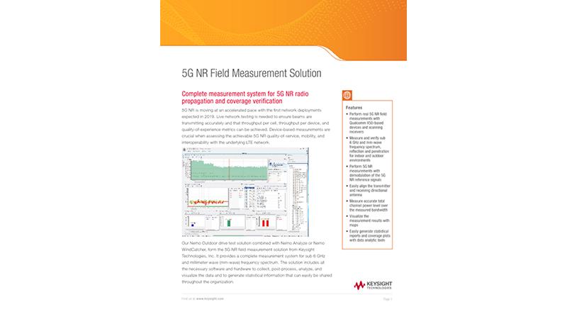 5G Field Measurement Solution