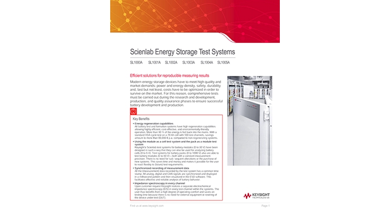 Scienlab Energy Storage Test Systems