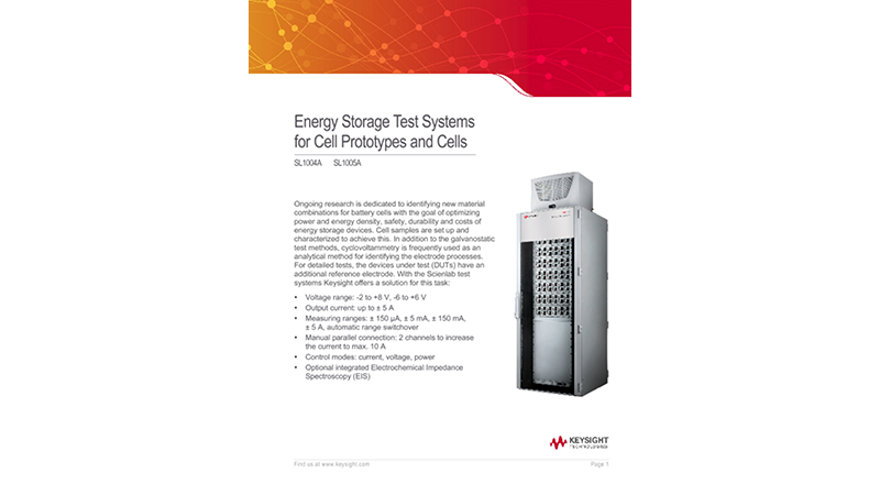 Energy Storage Test Systems for Cell Prototypes and Cells