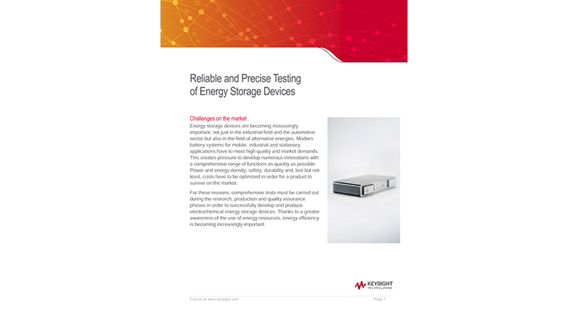 Reliable and Precise Testing of Energy Storage Devices