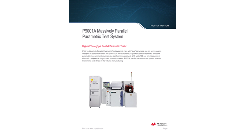 P9001A Massively Parallel Parametric Test System