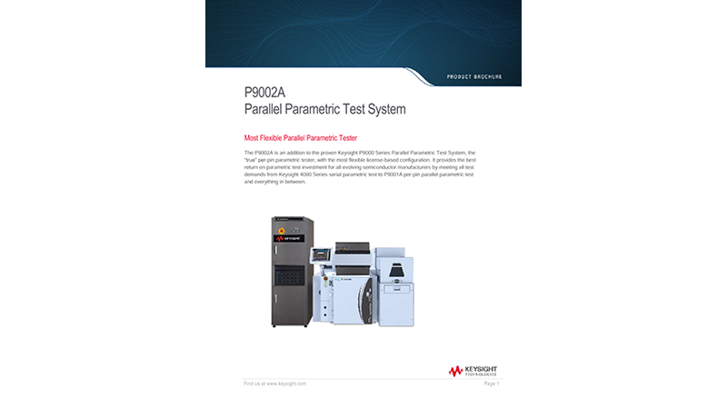 P9002A Parallel Parametric Test System