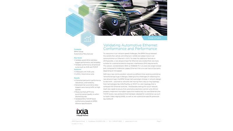 Validating Automotive Ethernet Conformance and Performance