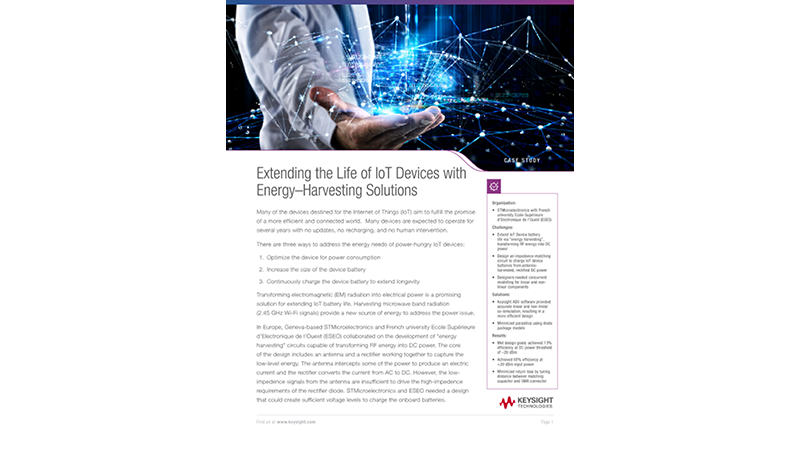 Extending the Life of IoT Devices with Energy–Harvesting Solutions