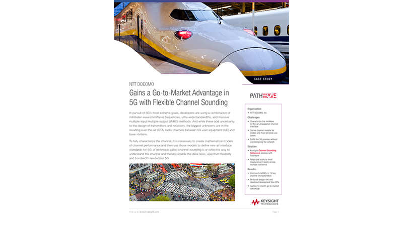 NTT DOCOMO Gains a Go-to-Market Advantage in 5G with Flexible Channel Sounding