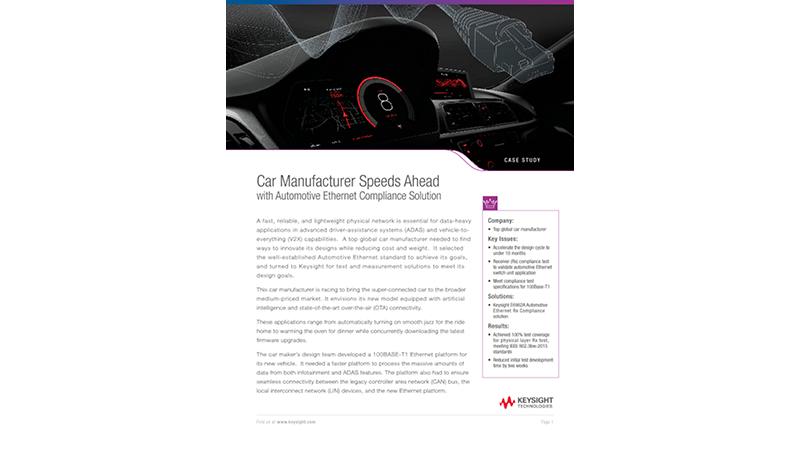 Automotive Ethernet Compliance Solution