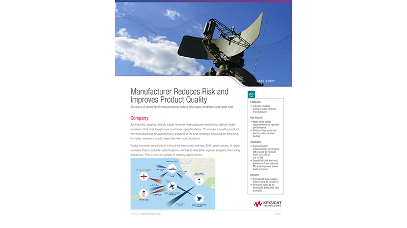 Improve the Accuracy of Power Level Measurements for Manufacturers