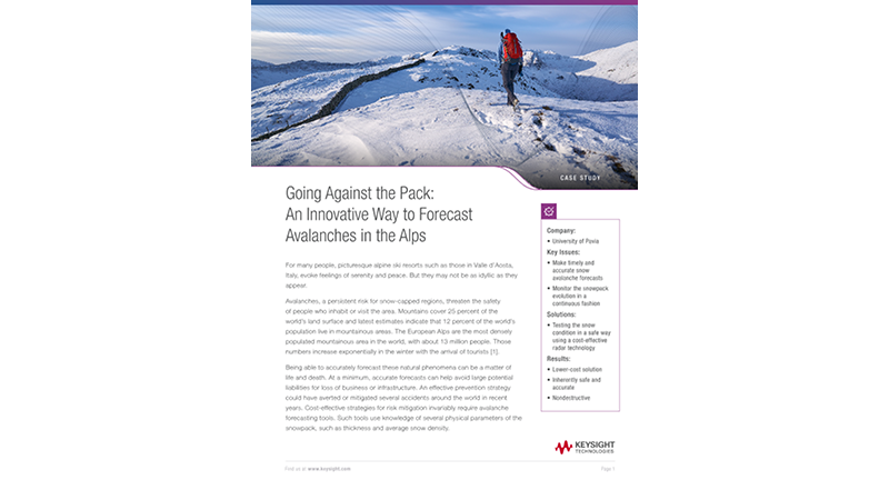 Innovation in the Alps – Avalanche Forecasting