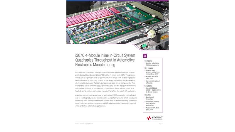 Automotive Electronics Manufacturer Quadruples Throughput