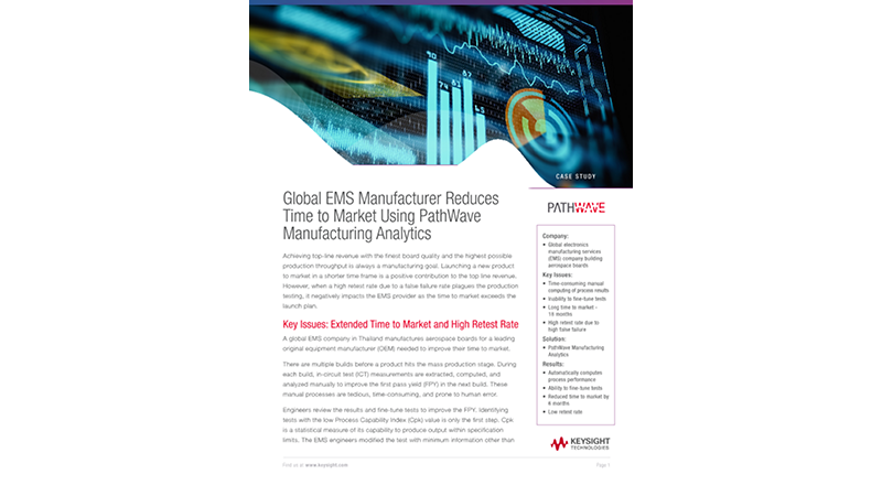 Reducing Time to Market with PathWave Manufacturing Analytics