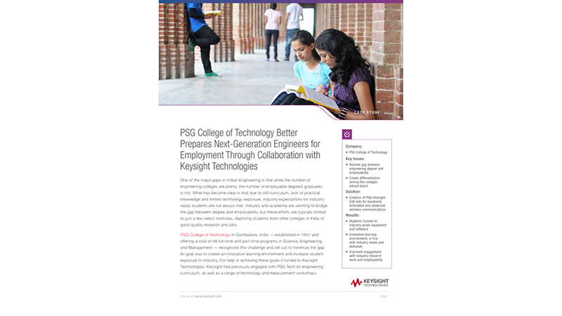 PSG College of Technology Better Prepares Next-Generation Engineers