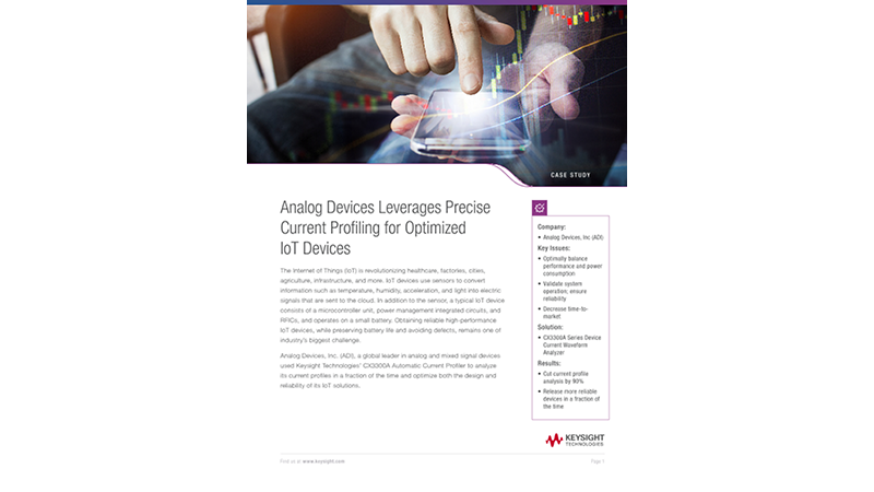 Analog Devices Leverages Precise Current Profiling for Optimized IoT Devices