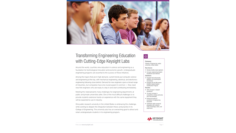Engineering Education Transformed with Keysight Labs
