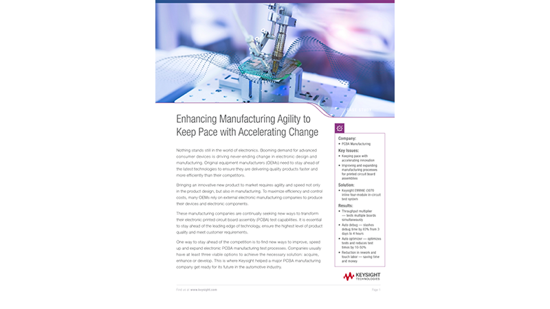 Enhancing Automotive Manufacturing Agility to Keep Pace