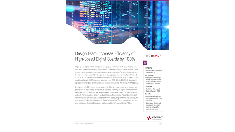 Design Team Increases Efficiency of High-Speed Digital Boards 100%