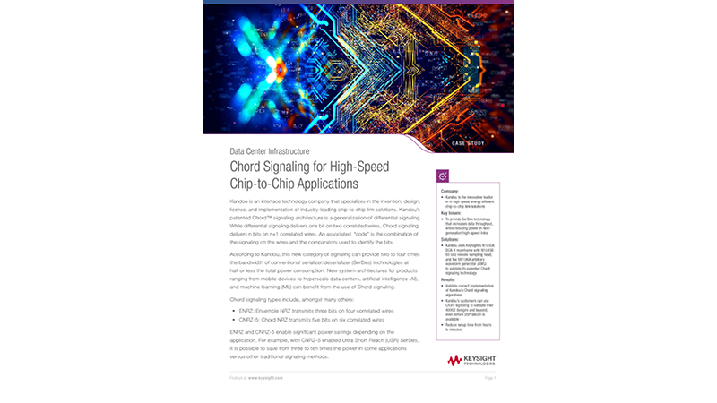 Chord Signaling for High-Speed Chip-to-Chip Applications