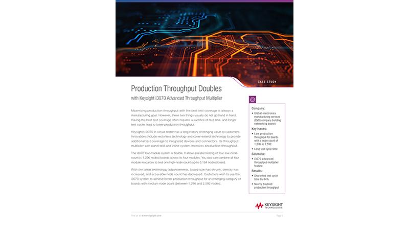 Increase Throughput with i3070 Advanced Throughput Multiplier
