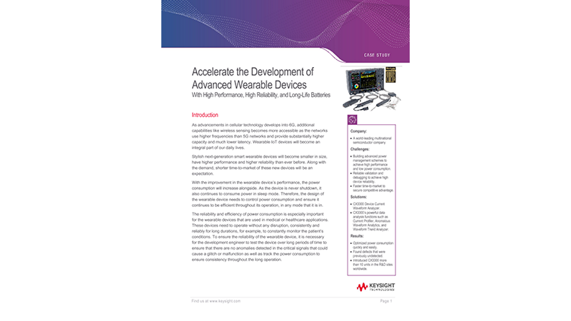 Accelerate the Development of Advanced Wearable Devices