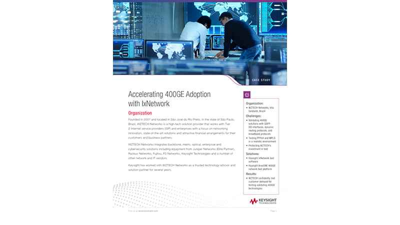 Accelerating 400GE Adoption with IxNetwork