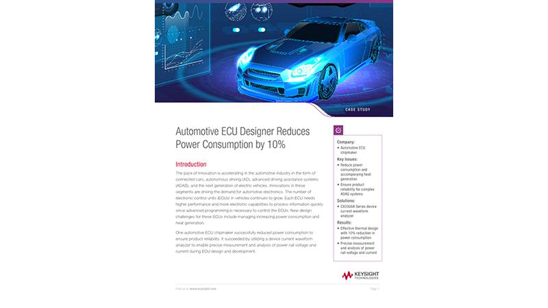 Automotive ECU Designer Reduces Power Consumption by 10%
