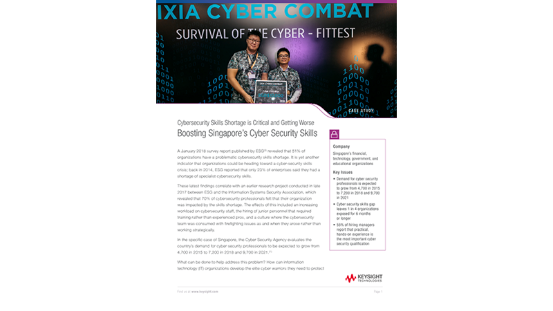 Boosting Singapore's Cyber Security Skills