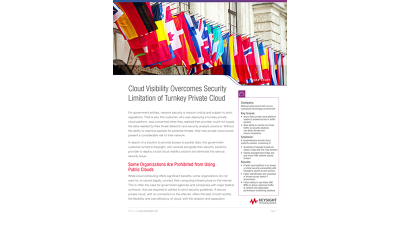 Cloud Visibility Overcomes Security Limitation of Turnkey Private Cloud