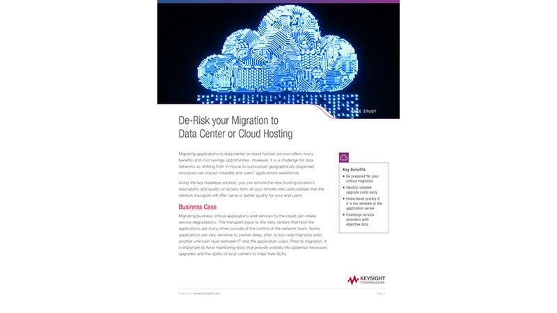 De-Risk your Migration to Data Center or Cloud Hosting