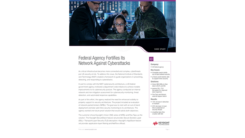 Federal Agency Fortifies Its Network Against Cyberattacks