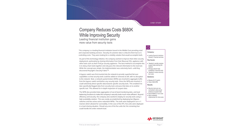 Financial Company Reduces Costs $680K While Improving Security